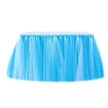 Tutu Table Skirt Tulle Tableware Christmas Decor Frozen Tablecloth Mesh ... - $43.18