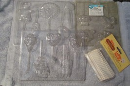 WILTON, SUN HILL &? chocolate candy molds on a stick, 3 sheets w/instruc... - $14.03