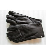 UGG Gloves Tech Smart Casual Leather Black Medium - $64.34