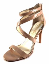 Jessica Simpson Ellenie Nude Patent Strappy Stiletto Dress Sandals Size 8 - $79.20