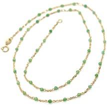 Halskette Gelbgold 18K 750, Cubic Zirkonia Grün, Facettiert, Kette Rolo ... - $370.03