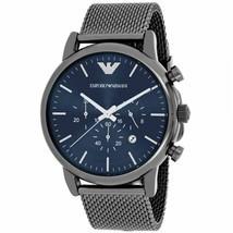 NEW EMPORIO ARMANI AR1979 Sport Chronograph Stainless Steel Men's Wrist ... - $119.48