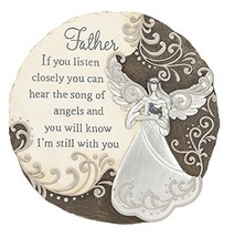 Father Listen Closely Hear Song of Angels 11 Inch Resin Stone Memorial S... - $23.95