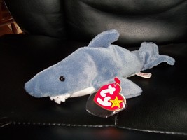 TY BEANIE BABY CRUNCH THE SHARK Retired PVC Pellets NEW - $40.00