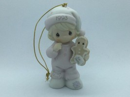 "#530212 PRECIOUS MOMENTS 1993 CHRISTMAS ORNAMENT, 1ST YEAR ISSUE ""WISHIN... - $13.75"