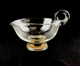 Vintage Frank M. Whiting Elegant Glass Creamer Snail Handle Sterling Sil... - $27.69