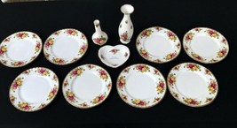 8 Royal Albert Old Country Roses Salad Plates Brand New! Plus Extras - $80.99