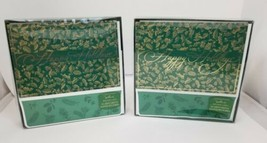 Hallmark Christmas Cards 2 Boxes Happy Holidays 36 Cards Envelopes Green... - $14.50
