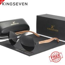KINGSEVEN 2021 New Handmade Wood Sunglasses Polarized Men's Glasses UV400 - $19.49+
