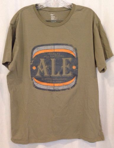Gap Graphic T-Shirt Beer XL Men's Malt Ale Brew With Pride Tan 100% Cotton