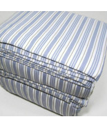 Cuddl Duds Flannel Sheet Set- BLUE STRIPE QUEEN brand new in package - $44.54