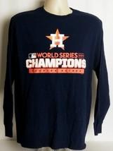 Houston Astros MLB Large L 2017 World Series Champions Long Sleeve Tee T... - $19.79