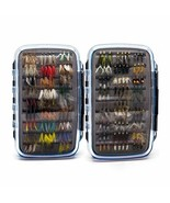 180 pcs Wet Dry Nymph Fly Fishing Flies Lure Kit hand tied Flies for Tro... - $75.23