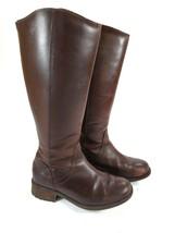 UGG Australia W Seldon 1006038 W/DKC Brown Leather Riding Boots Size 8 - $56.06