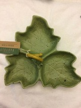 Williams Sonoma Harvest Leaf 3 Part Relish Dish Server By Barbara Eigen - $15.79