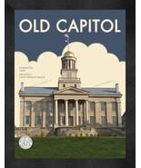 "Iowa Hawkeyes ""Old Capitol"" 13 x 16 Art Deco Framed Print  - $39.95"