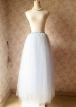 LIGHT BLUE Maxi tulle skirt Plus Size Wedding Petticoat Skirt 3 layer NWT image 2
