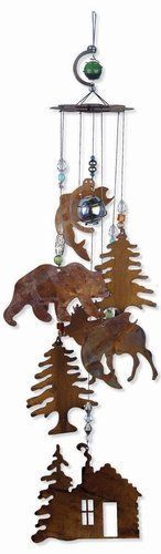 Sunset Vista Designs Wilderness Wonders Rustic Cabin Wind Chime, Medium
