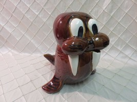 Vintage Walrus Cookie Jar Doranne of California GREAT condition no chips... - $46.09