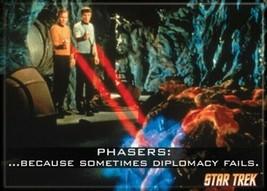 Star Trek: The Original Series Phasers: Diplomacy Fails Magnet, NEW UNUSED - $3.99