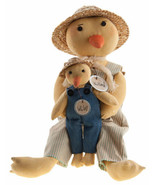 Country WILLARD & WILEY DUCK DOLL Primitive Spring Easter Farmhouse Rustic - $61.99