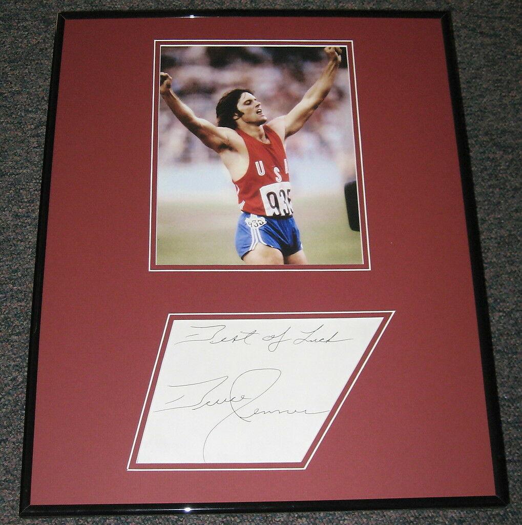 Bruce Jenner Signed Framed 16x20 Photo Display JSA 1976 Olympics