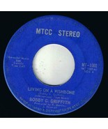 Bobby Griffiths Living On A Wishbone 45 rpm Simplicity Canadian Pressing - $4.74