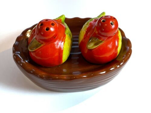 Primary image for Vintage RELCO Japan Ceramic Ducks In Nest Hand Painted Salt & Pepper Set *READ*