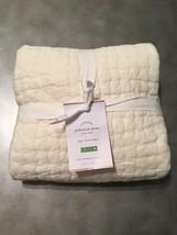 Pottery Barn Pickstitch Euro Pillow Sham Ivory Brand New Cotton - $39.60