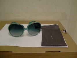 Mujer Oliver Peoples Nuevas Gafas de Sol Sofiana Aqua Gris Lentes - $125.87