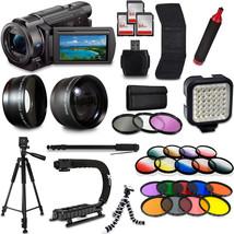 Sony FDR-AX53 4K HD Handycam Camcorder Video Camera Mega Accessories Bun... - $1,230.55