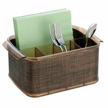 Flatware Utensils Caddy Spoon Fork Steak Knives Napkins Organizer Space ... - $31.33