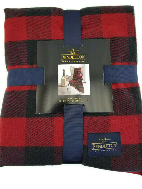 Pendleton Home Rob Roy Luxe Red Throw Blanket 50 X 70 - Manufacturer Sealed - $41.49