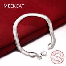 Wholesale!Free Shipping Wholesale 925 Sterling Silver bracelet,hot silve... - $9.72