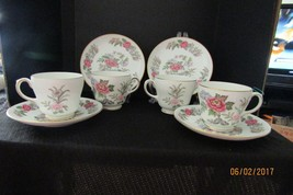 "Set of 4 Wedgewood "" Cathay "" # 4053 Footed Demitasse Cup & Saucers c 19... - $48.99"