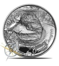 2 oz Ultra High Relief Silver Grand Canyon Round ~ American Landmarks ~ ... - $66.32