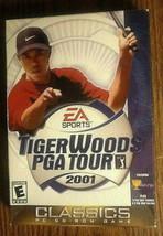 Tiger Woods PGA Tour 2001 Rare EA Sports Windows 95 98 PC 17 Courses 11 ... - $7.70