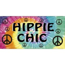 hippie chic tie dye colorful rainbow peace sign license plate made in usa - $28.49