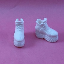 Barbie White Platform Sneakers Bmr 1959 Footwear Shoes Accessory For Doll - $4.00
