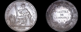 1900-A French Indo-China 1 Piastre World Silver Coin - Vietnam - $179.99