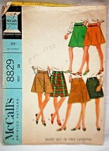 Old Vintage 1967 McCall's Sewing Pattern 8829 Waist 28 Skirt Set in Two ... - $6.92