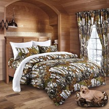 22 pc Mixed set White Snow Camo Queen sheets, King Comforter and three c... - $128.49