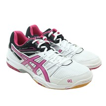 ASICS Gel Rocket 7 Womens Size 11 Hot Pink White Athletic Indoor Court S... - $54.44