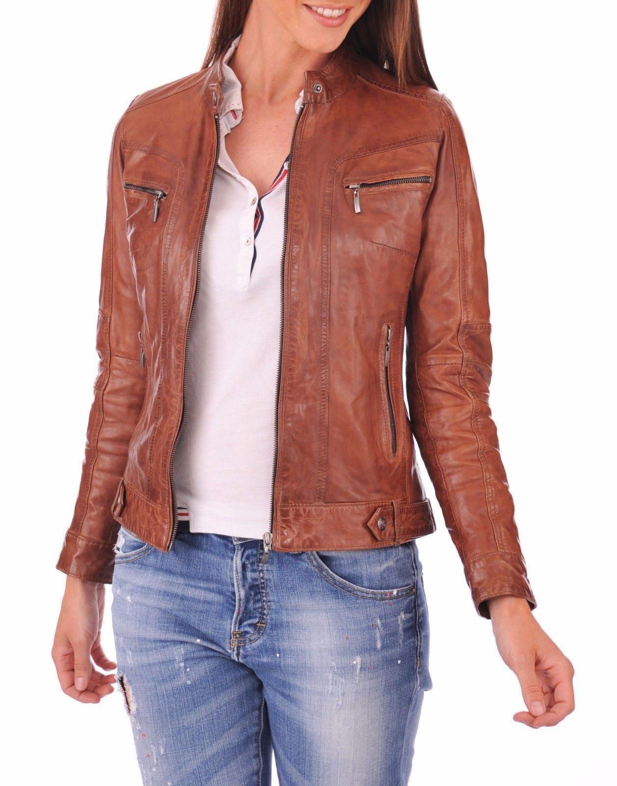 Slimfit Motorcycle Womens Leather Jacket-BNWT Victoria Beckham Biker Black
