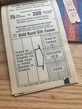 Vintage set of 3 unused Gold Bond Savers books & 28 unused stamps  image 2