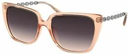 New Coach HC 8256U 556336 L1066 Transparent Peach Sunglasses 55-17-140