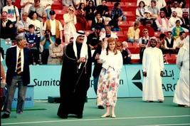 Vintage photo of Ali Al-Fardan and Sarah Ferguson at the Mobile Tennis Open - $9.41
