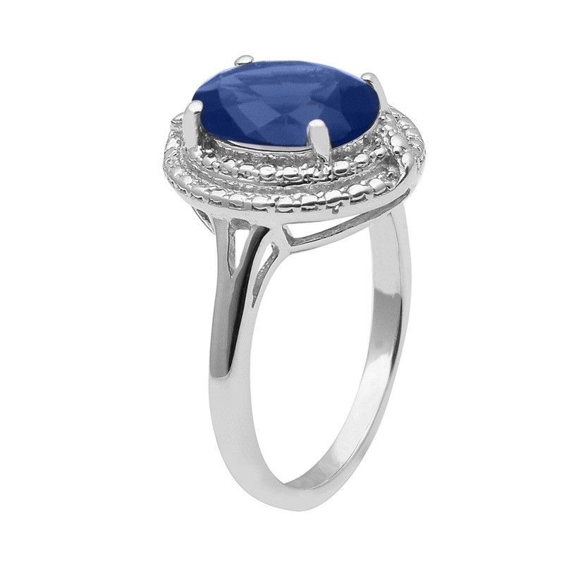 Blue Cubic Zirconia 925 Sterling Silver Ring Shine Jewelry Size-8.5 SHRI1466