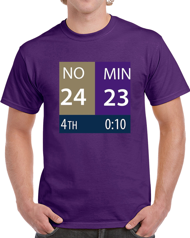 Primary image for Minnesota Miracle Comeback Game Clock Scoreboard Football T Shirt