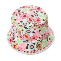 POSE Floral Baby Girl Sun Cap Infant Floppy Summer Hat Toddle Bucket Hat 51 CM